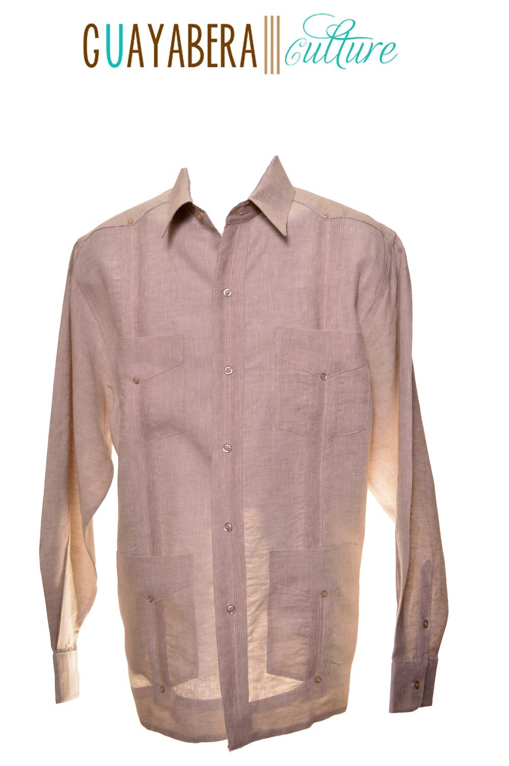 El Viejo San Juan Long Sleeve Heathered Irish Linen