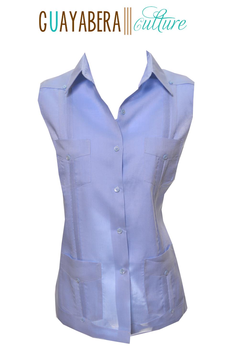 vieques female linen sleeveless guayabera guayabera culture